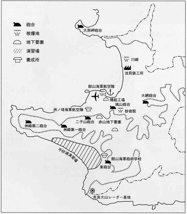 軍都館山の軍事施設