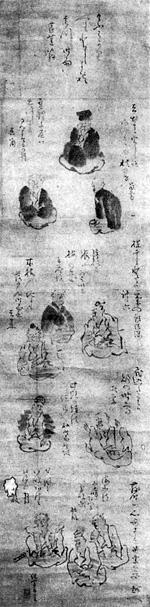 6.蕉門十哲図   石井祐輔氏蔵
