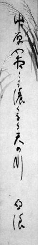 102.亜浪短冊   石井治氏蔵