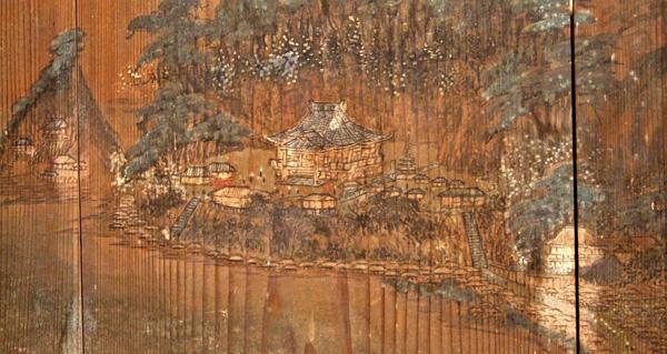 12.鏡ヶ浦図絵馬(那古寺部分) 明治9年(1876) 渡辺雲洋画