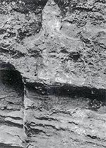 陽刻五輪塔(消滅、昭和60年撮影)