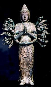 1.銅造千手観音菩薩立像 鎌倉時代  重要文化財