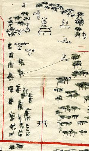 110.八幡村絵図(境内部分)