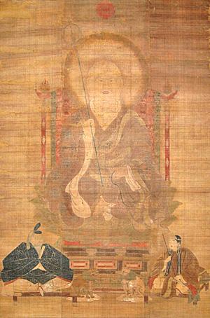 32.絹本著色僧形八幡神像 南北朝時代 千葉県指定文化財