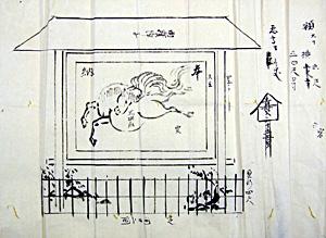 66.開帳場奉納絵馬絵図 文政2年(1819)