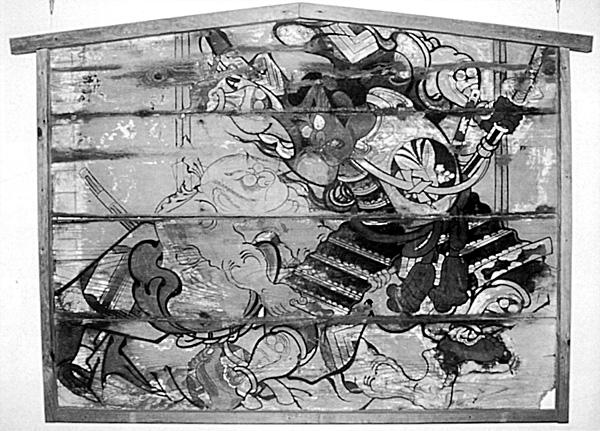 13.古今兄弟兵曽我草摺引図絵馬 享保10年(1725) 館山市指定文化財