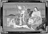 鏝絵「神功皇后と武内宿禰図」絵馬 嘉永2年(1849年)