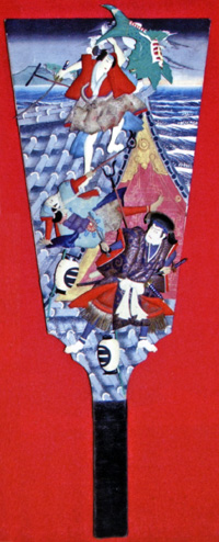 押絵飾り羽子板「芳流閣」<br /> 須坂市・田中本家博物館蔵