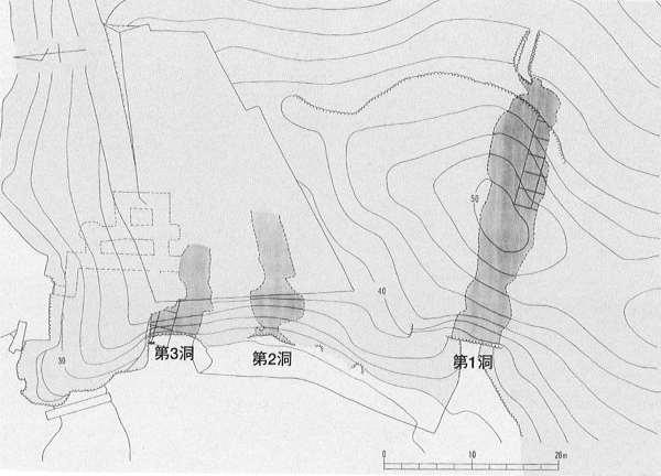 第10図 大寺山洞窟遺跡の全体図