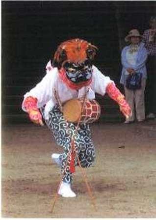 写真34-.2中獅子舞