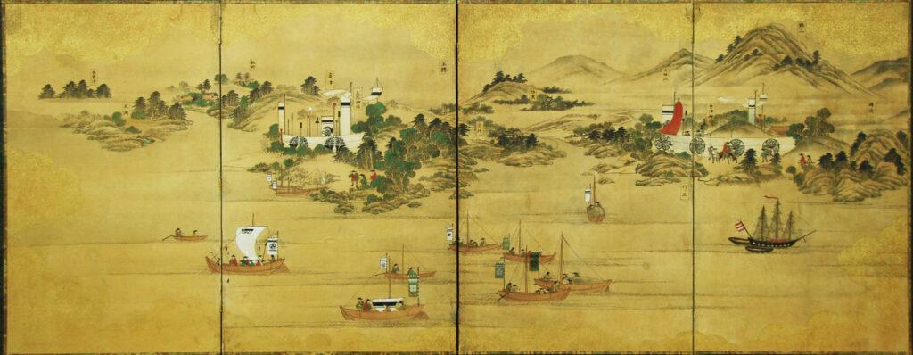 安房上総御固図屏風 嘉永6年(1853年)~嘉永7年