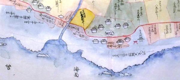 22.川名村絵図(部分) 館山市・飯田貞之氏蔵