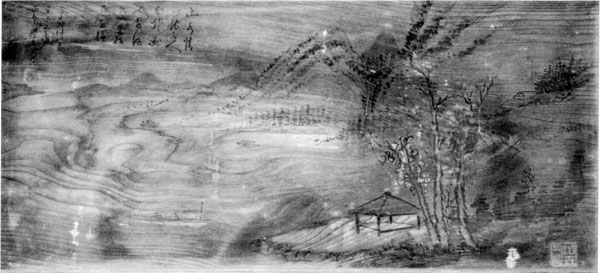 77「山水画」 明治24(1891年) 館山市山萩 宝幢院