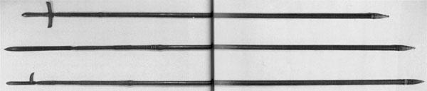 76~78.上:十文字槍、中:素槍、下:片鎌槍