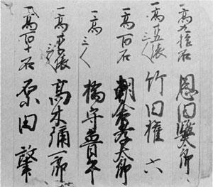 114.慶応二年惣順席帳