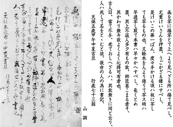 21.山調筆『戯作神燈画』序