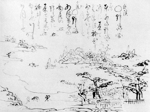 44.山調画「白浜野島ノ図」 『画法式』所収の図