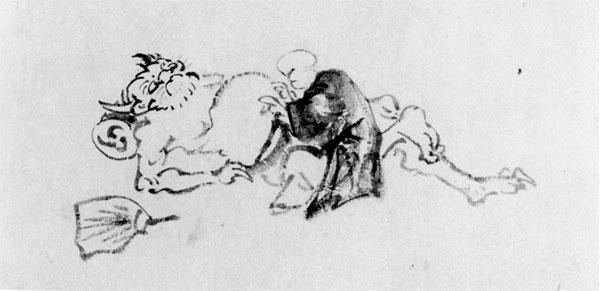 71.山調画「鬼のかくらん」