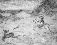 安房開拓神話「御狩の図」  41  天日鷲命の御孫由布津主命御狩の図