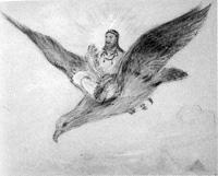 安房開拓神話「日鷲命図」  36  天日鷲命の図