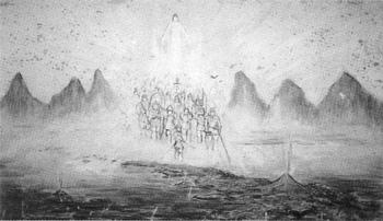 官幣大社安房神社縁起壁画  「天孫御降臨の図」