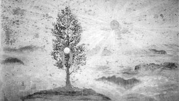 官幣大社安房神社縁起壁画  「天つ神籬磐境{ひもろざいわさか}の図」