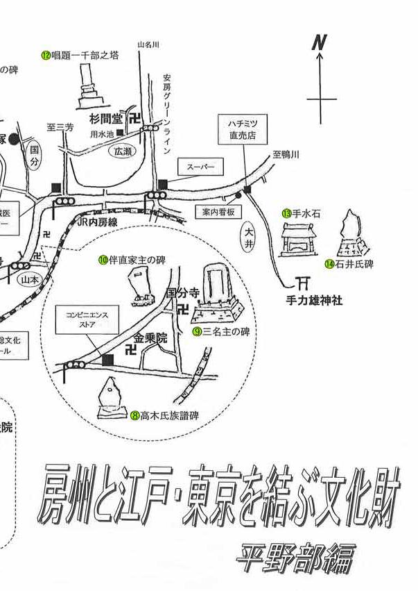房州と江戸・東京を結ぶ文化財(館山平野部)