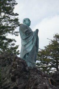 清澄寺 日蓮銅像